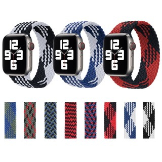 Bện Solo Loop Apple Watch Strap Dây đeo vải co giãn Nylon đàn hồi Thắt lưng iWatch