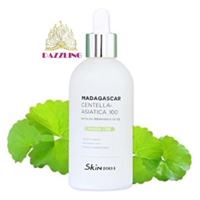 [Chiết/Full] Tinh chất Madagascar Centella Asiatica 100 Ampoule chiết xuất Rau Má (Trị mụn, mờ thâm,