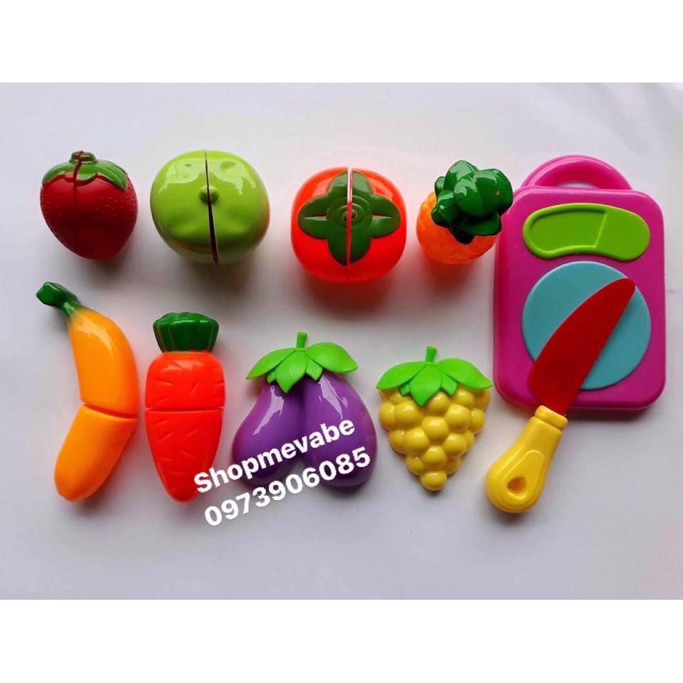 Bộ đồ chơi cắt hoa quả (kèm rổ)