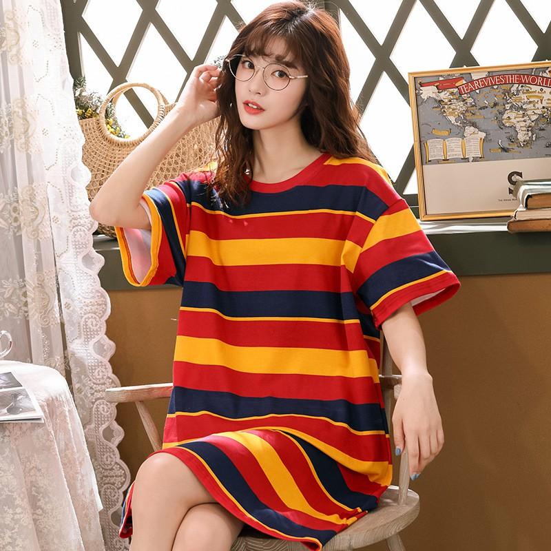 [𝐅𝐫𝐞𝐞𝐒𝐡𝐢𝐩 - 𝐇à𝐧𝐠 𝐒ẵ𝐧] Váy Dáng Suông Cotton -  Mặc Ở Nhà Xinh Xắn, Dễ Thương Cho Các Bạn Nữ