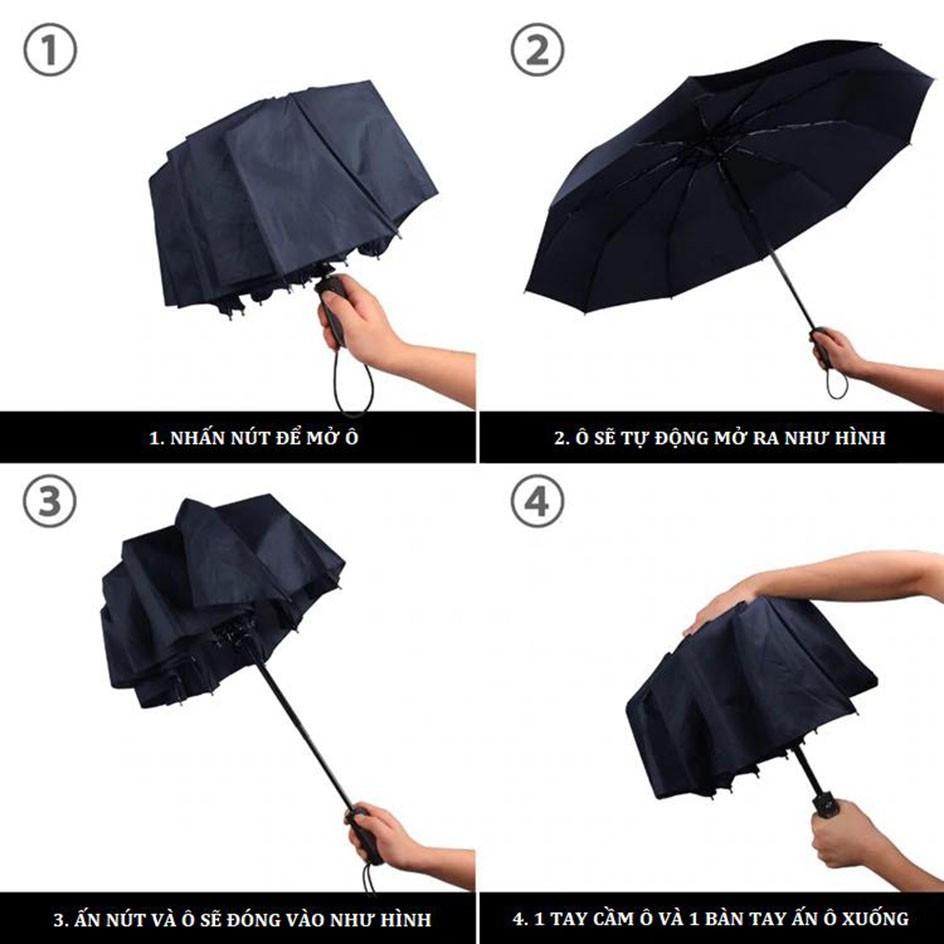 Dù bấm mở tự động 2 chiều, Ô dù tự động 2 chiều 2 lớp chống UV   Shopee  Việt Nam