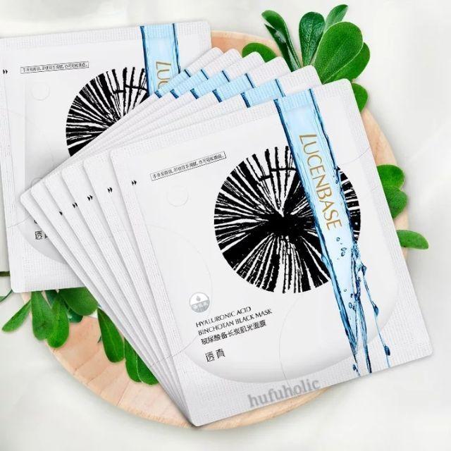 Lucenbase - Mặt nạ dưỡng ẩm - làm trắng - thanh lọc da thải độc than hoạt tính than đen than trắng