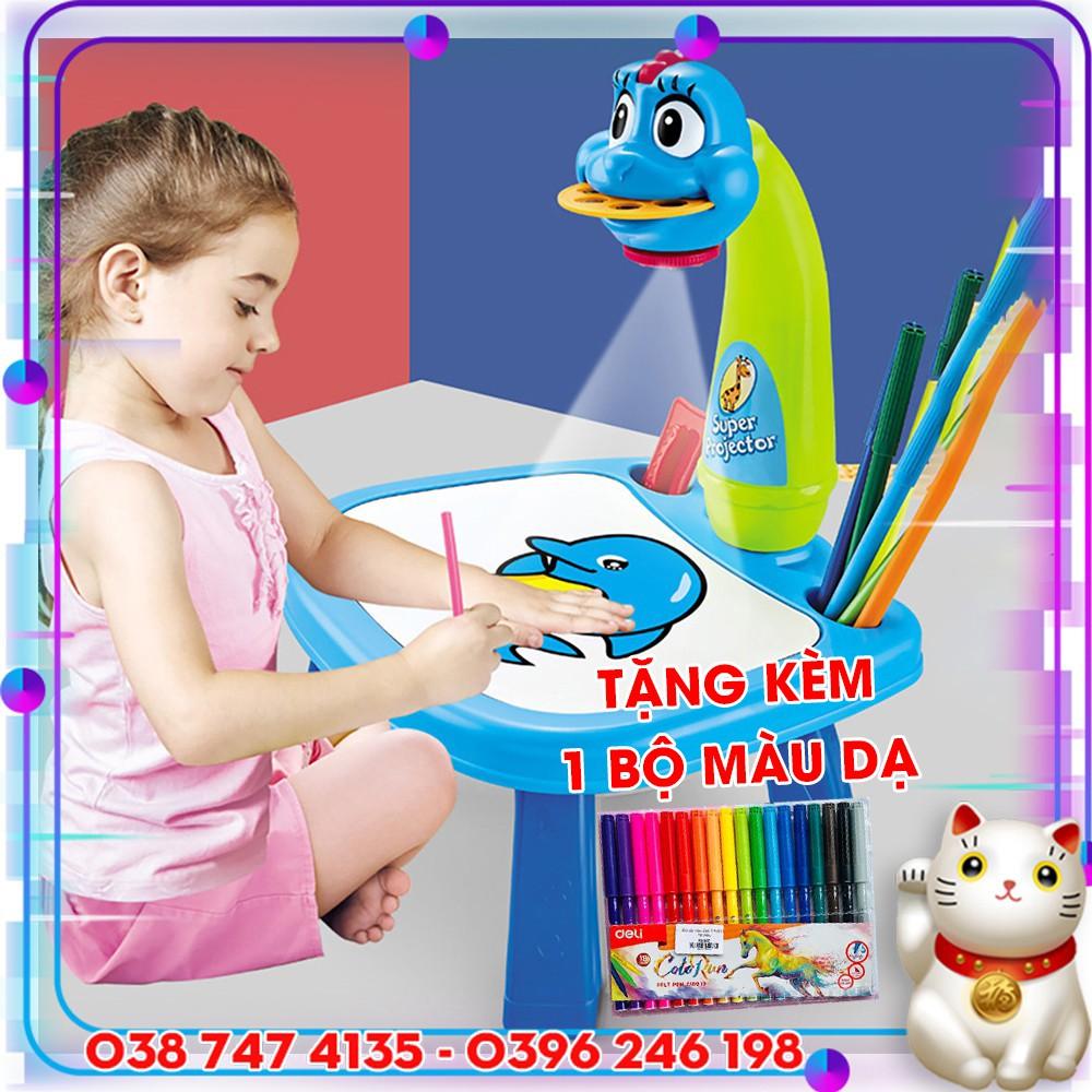 Bàn chiếu vẽ tranh cho trẻ em - Máy chiếu đa năng & bảng vẽ cho bé hàng hot - Bộ bàn đèn chiếu hình tập vẽ cho bé