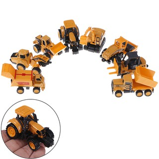 8 Styles Alloy Engineering Car Tractor Toy Dump Truck Model Toy Cars For Kid