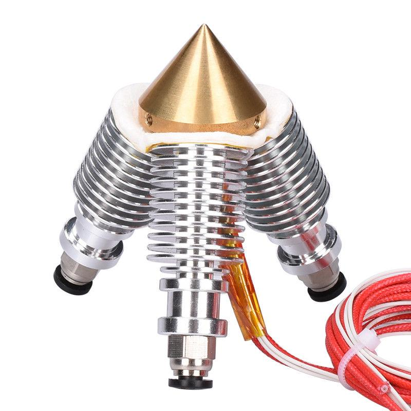 3 IN 1 OUT Multi Nozzle 0.4mm Diamond Extruder Reprap Hotend 3D V6 heatsink Sale