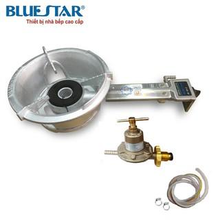 Combo Bếp Khè Gas Công Nghiệp Bluestar BS-6A1D ( Cán Dài ) + Bộ Van SAWANA SW-999 và 1,5m Dây