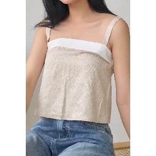 Áo thun nữ 2 dây sexy phối viền trắng vải cotton mềm co giãn ADN0009 thumbnail