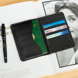 Ví đựng passport handmade da bò nhập khẩu - Ví đựng Passport Mino Crafts VI325 thumbnail