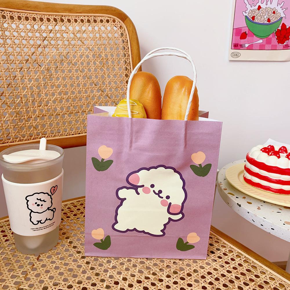 Túi giấy đựng đồ mua sắm đa năng in họa tiết đơn giản dễ thương