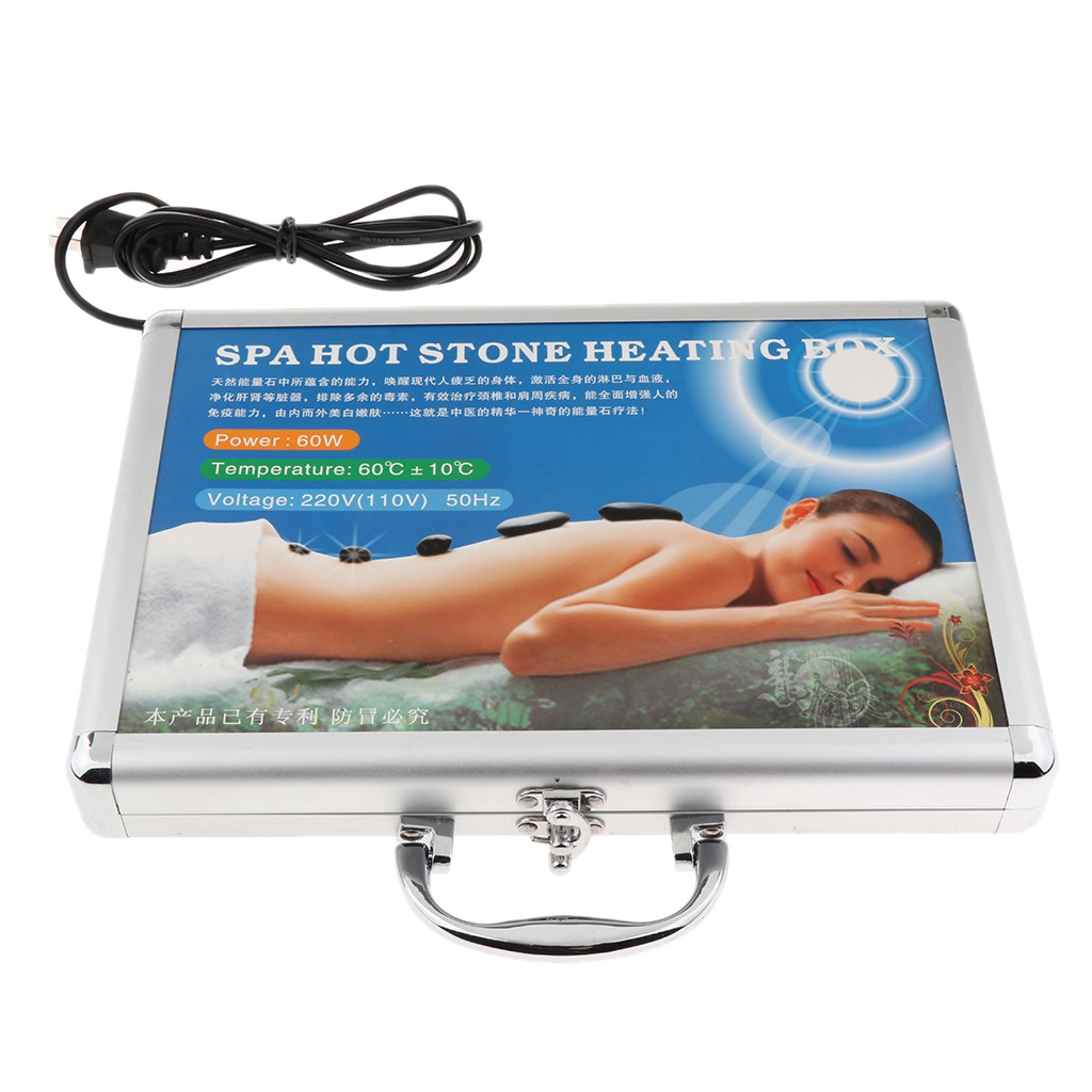 Hot Stone Massage Heater Warmer Box Case For 16 Pcs Spa Rock Stones US Plug