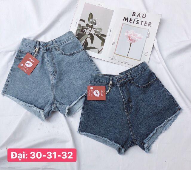 [Mã FAMAYWA giảm 10K đơn 50K] Quần Short Jeans Nữ Trơn Size Lớn nhỏ đến 35 (2 màu)