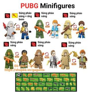 Lắp ráp Lego Pubg 6 nhân vật trong game + đồ ngụy trang 2018
