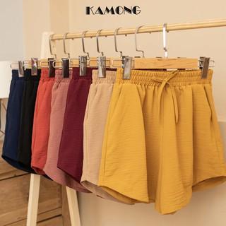 [Mã FASHIONXANH264 giảm 10K đơn 50K] Quần short nữ lưng thun lai kiểu KAMONG đủ màu, đủ size Q006 thumbnail