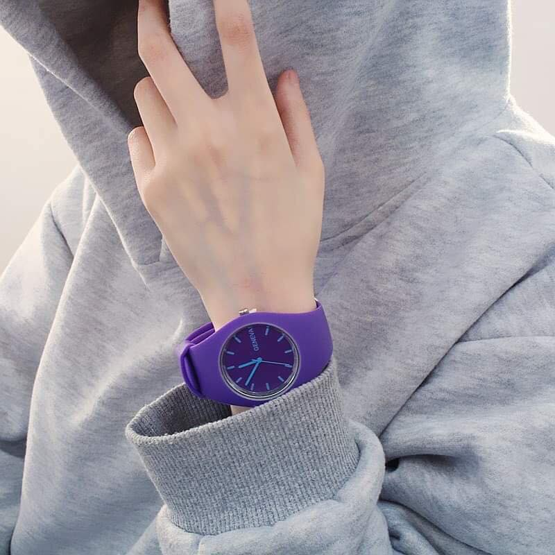 Đồng hồ thời trang nam nữ Geneva G78 dây silicon