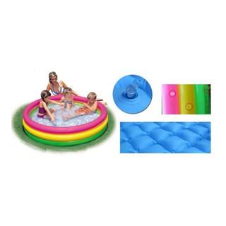 Bể bơi tròn intex 3 tầng cầu vồng siêu dễ thương