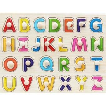Bảng ghép hình chữ cho bé - có núm