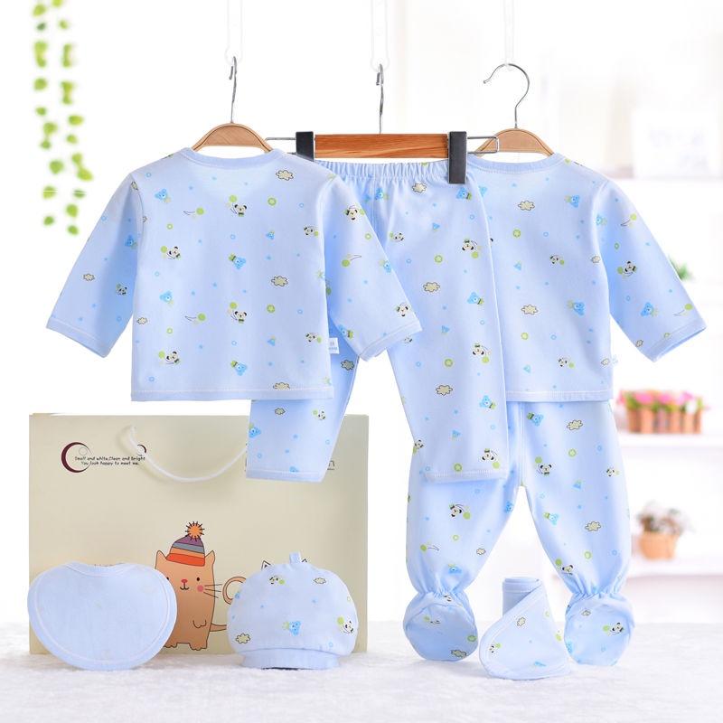 Hộp Quà Tặng Quần Áo Vải cotton Mỏng Thời Trang Mùa Hè Cho Bé 0-3 Tháng Tuổi