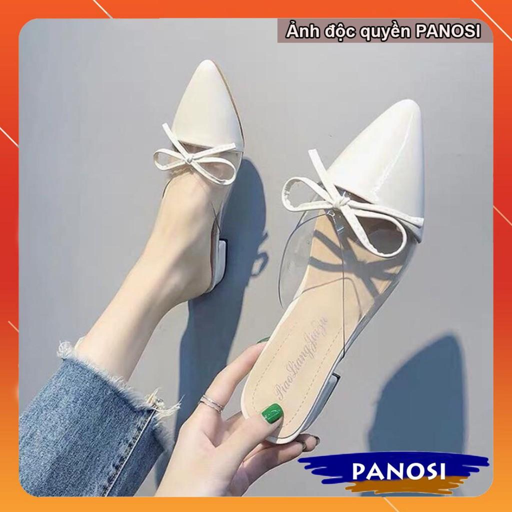 Giày dép nữ thời trang sục tim nơ mũi nhọn đẹp