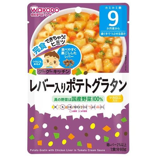 Cháo Wakodo mì gan gà sốt cà chua và khoai tây 80g (9 tháng)