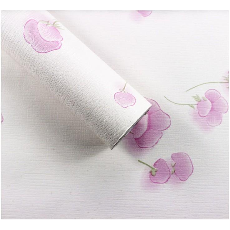 5m Giấy Dán Tường Họa Tiết nấm hồng không cần keo