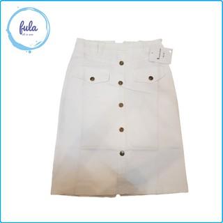 Chân váy nữ kaki jean hot hit màu trắng hàng quảng châu . Fula