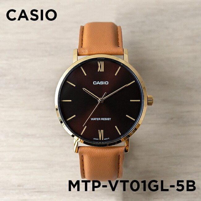 Đồng Hồ Nam Casio Standard MTP-VT01GL-5BUDF Chính Hãng - Dây Da   Casio Standard MTP