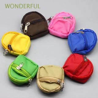 WONDERFUL 1PC Doll Double Zipper Dress Up Bag Children Toys Birthday Gifts Zero Wallet Mini Backpack