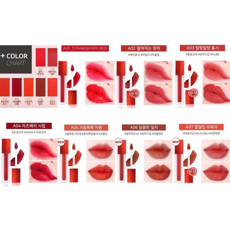 [A1 > A17] Son Kem Lì Black Rouge Air Fit Velvet TintA01 Bản đỏ | WebRaoVat