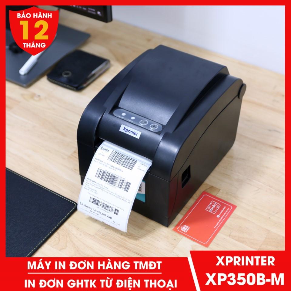Máy in dPos Xprinter XP350BM LAN in đơn hàng GHTK bằng điện thoại in tem nhãn Minicode và phiếu giao hàng TMĐT XP 350BM