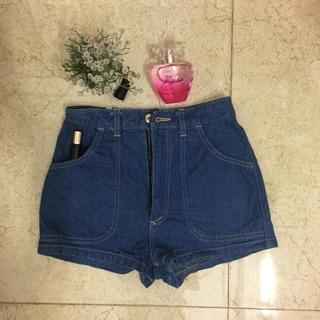 Quần short jeans cạp cao