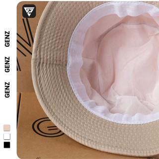 Hình ảnh [Mã FASHIONT4MA2 giảm 10K đơn 50K] Nón bucket tròn vành GENZ trơn nhiều màu phong cách Ulzzang Unisex ZA005-5