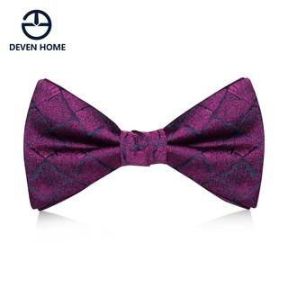 Purple, lattice, bow tie, men's wedding, formal dress, Korean fashion, British s