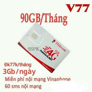 Sim 4G gọi miễn phí Vina 90G/tháng