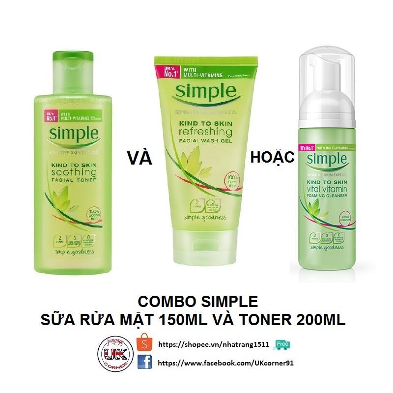 COMBO_Toner Simple 200ml và sữa rửa mặt Simple 150ml - 2467022 , 423362917 , 322_423362917 , 335000 , COMBO_Toner-Simple-200ml-va-sua-rua-mat-Simple-150ml-322_423362917 , shopee.vn , COMBO_Toner Simple 200ml và sữa rửa mặt Simple 150ml