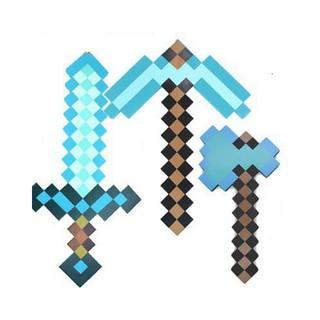 Combo Đồ chơi Rìu Kiếm Cúp Minecraft Diamond