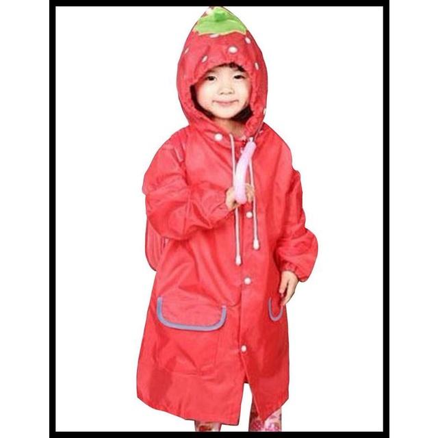 Áo mưa giáng sinh màu đỏ cho bé