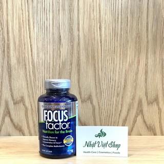 Viên uống Tăng cường trí nhớ, giảm stress Focus Factor của Mỹ (180 viên) thumbnail