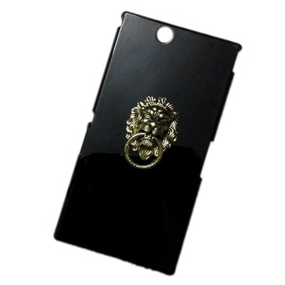 Bronze Lion Head Ring Stand Holder Back Hard Case Cover for Sony Xperia Z Ultra XL39H