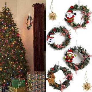 Christmas Wreath Garland Ornament Door Wall Hanging Decor Party Decoration