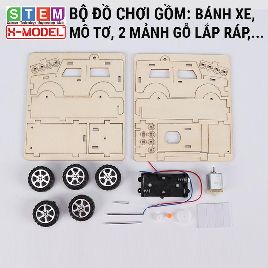 Đồ chơi sáng tạo STEM Lắp ráp Xe ôtô gỗ X-MODEL ST72 cho bé, Đồ chơi tự làm DIY - Do it Yourself - Giáo dục STEM,STEAM