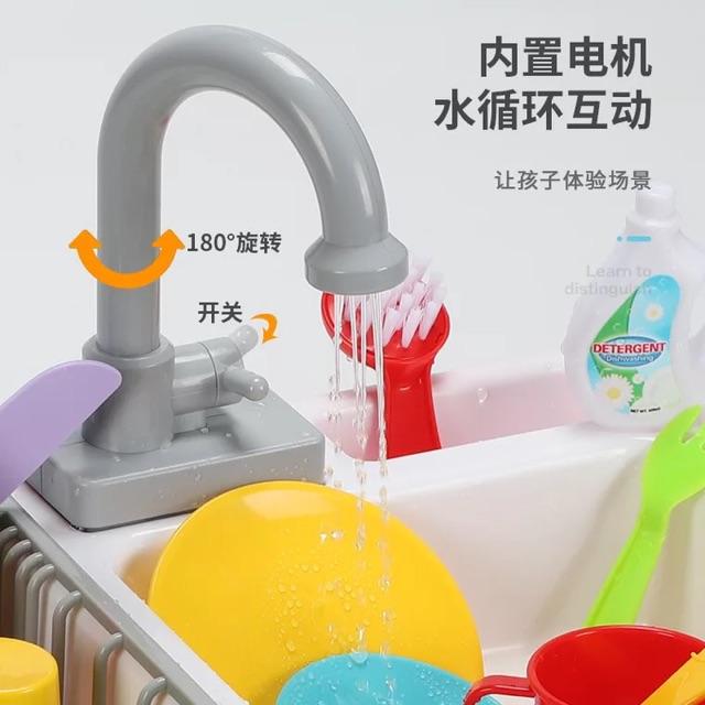Bộ rửa bát đĩa kèm vòi nước chay thật