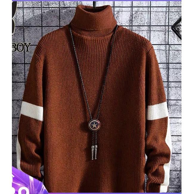 Áo len nam cổ lọ kiểu dáng Hàn Quốc