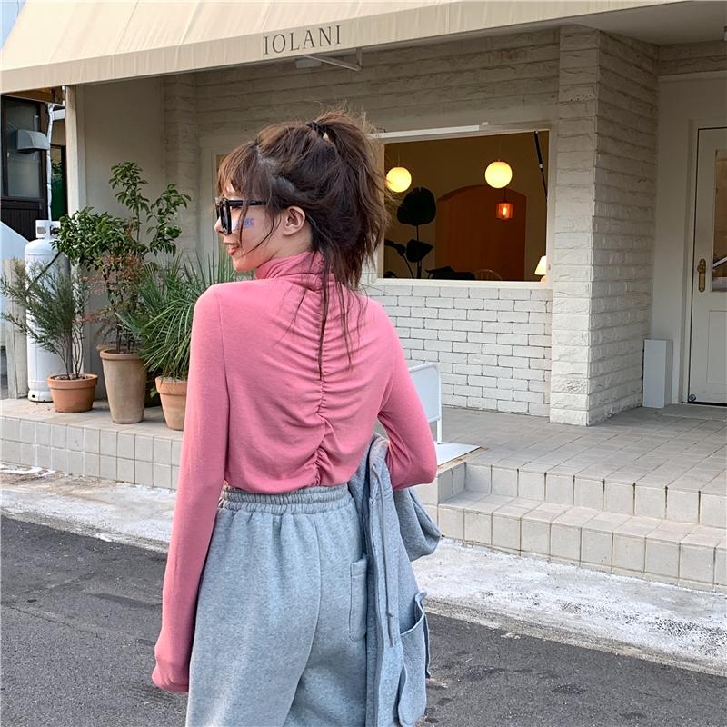 Phiên bản Hàn Quốc của hoang dã kéo dài dày tích cực và tiêu cực mặc xếp li cổ áo cao áo thun dài tay áo thun nữ - 22013368 , 7803630019 , 322_7803630019 , 294715 , Phien-ban-Han-Quoc-cua-hoang-da-keo-dai-day-tich-cuc-va-tieu-cuc-mac-xep-li-co-ao-cao-ao-thun-dai-tay-ao-thun-nu-322_7803630019 , shopee.vn , Phiên bản Hàn Quốc của hoang dã kéo dài dày tích cực và ti