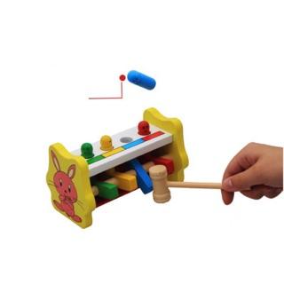 Đập chuột con thỏ – Đồ chơi gỗ an toàn