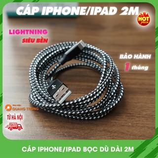 Yêu ThíchCáp sạc iphone,ipad bọc dù,dài 2m,siêu tốt,siêu rẻ