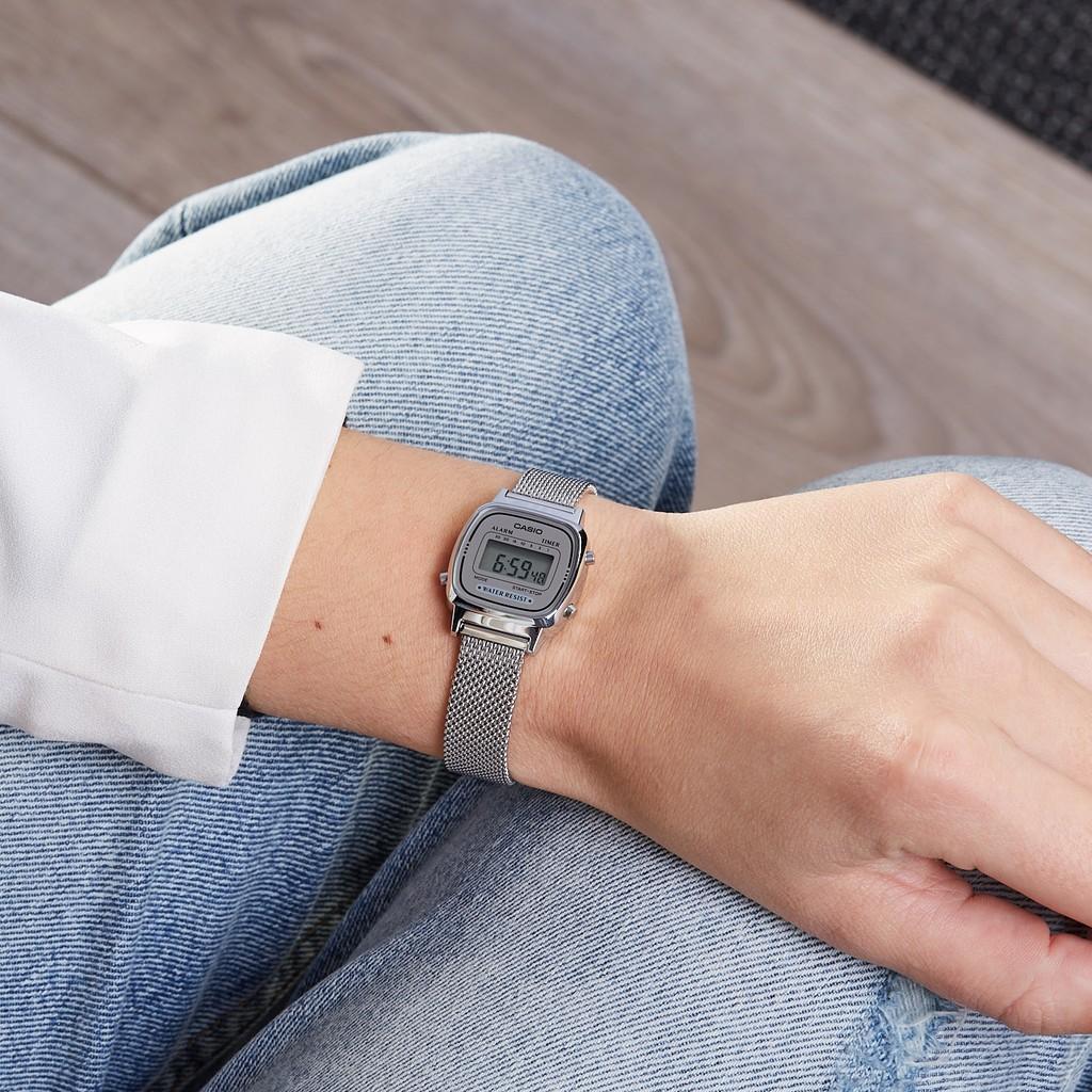 Đồng hồ nữ dây kim loại Casio Standard chính hãng Anh Khuê LA670WEM-7DF