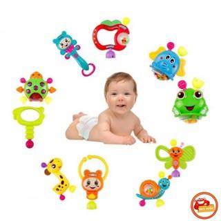 [Hàng Xịn] Bộ 10 xúc xắc lục lạc hình thú phát triển các giác quan cho trẻ (XX697) 1