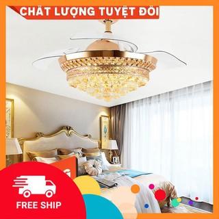 [Freeship]QUẠT TRẦN đèn trang trí, quạt đèn dấu cánh , có 3 chế độ sáng có điều khiển từ xa H6028