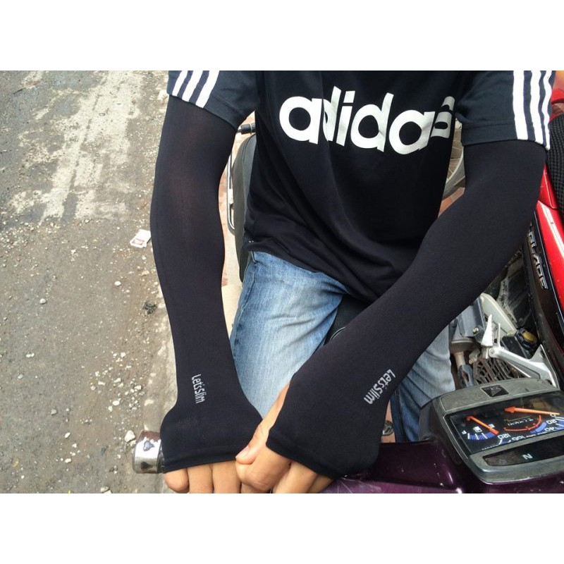 Bao tay chống năng khi đi xe máy, oto - Ống tay chống nắng khi chạy xe máy