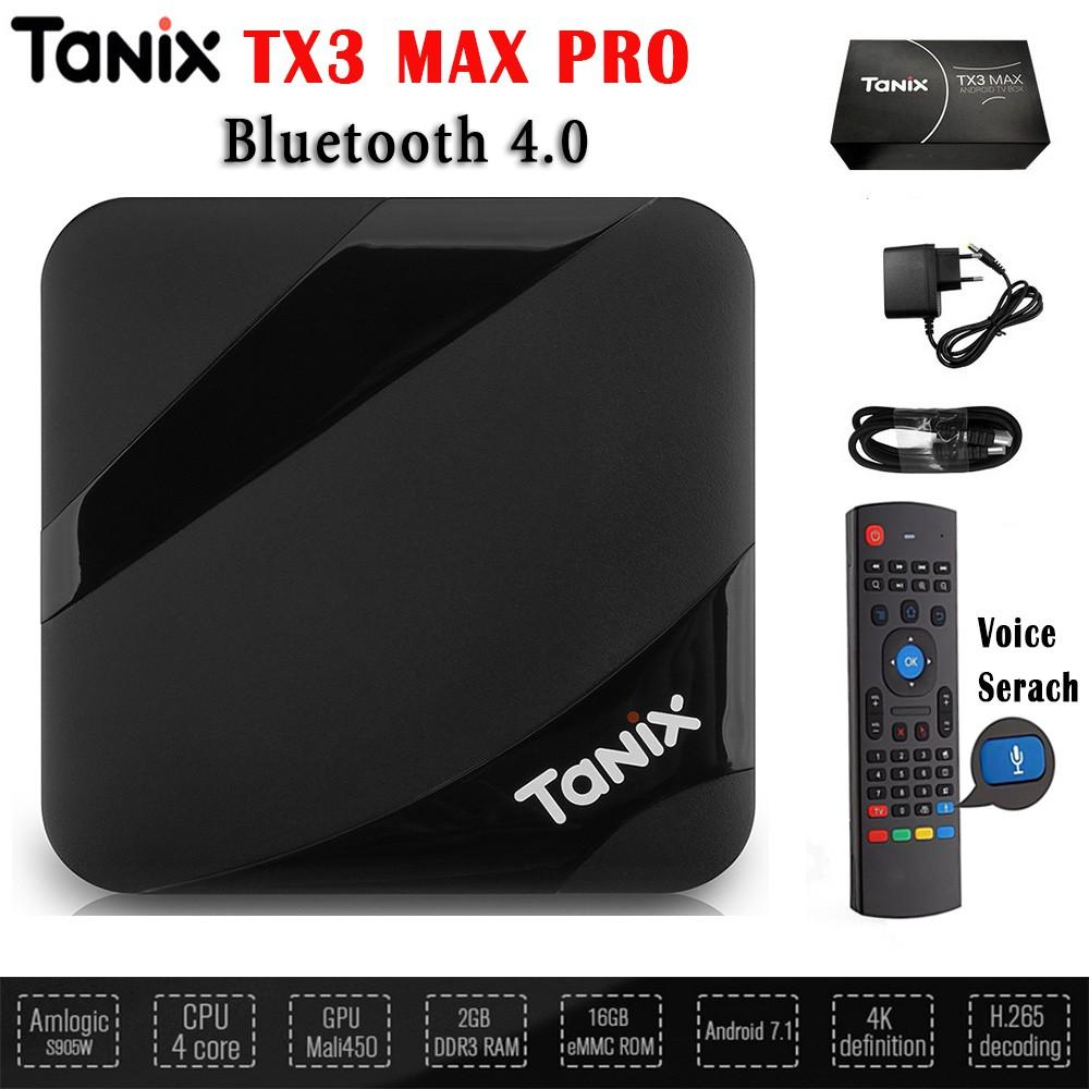 Tivibox TX3 MAX RAM 2GB, ROM 16GB Hỗ trợ Bluetooth 4.0